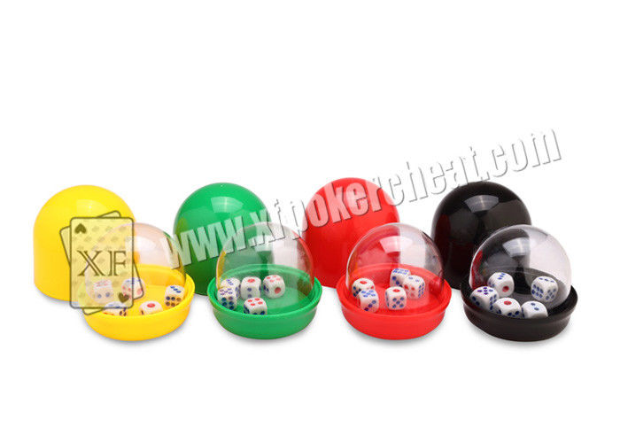Plastic Colorful Casino Dice Cup With Camera Inside See Through The Dices