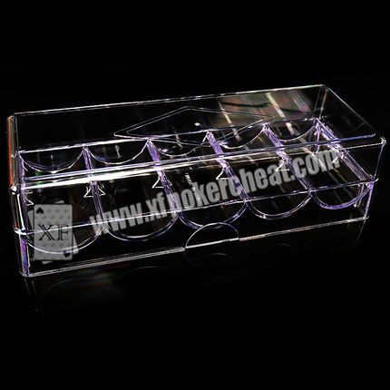 8 - 40cm Distance Poker Scanner Plastic Chip Box / Poker Chip Tray