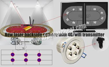 Witte van de de Achterkantcamera van de Lichtenlaser de Speelkaartscanner met de Zender van 4g Wifi